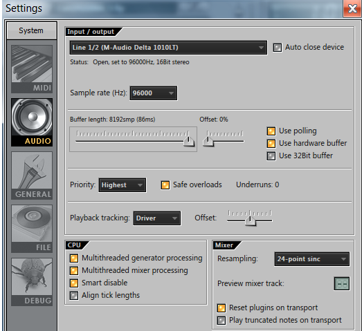 FL Studio audio settings interface Ethereal Multimedia Technology www.ethereal.ng